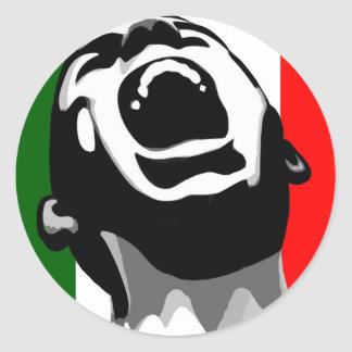Scream for italy classic round sticker