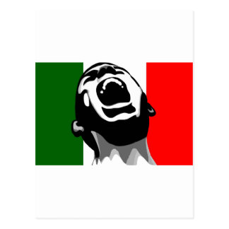 Scream for italy postcard
