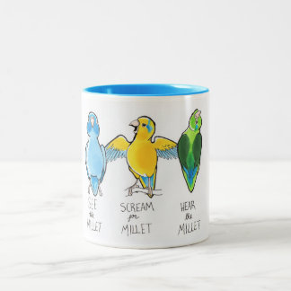 Scream for Millet, Hear the Millet, See the Millet Two-Tone Coffee Mug