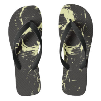 Scream (gold) flip flops