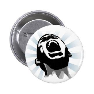 Scream halo 2 inch round button