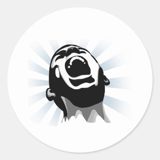 Scream halo classic round sticker