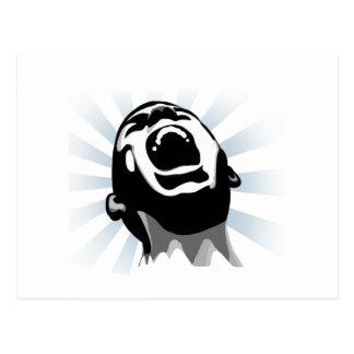 Scream halo post card