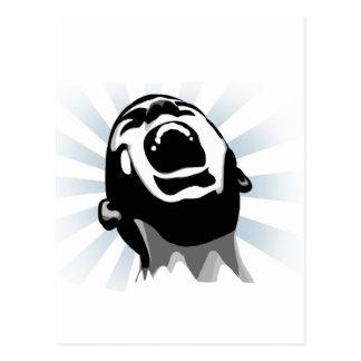 Scream halo postcard