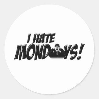 Scream if you Hate Mondays Classic Round Sticker