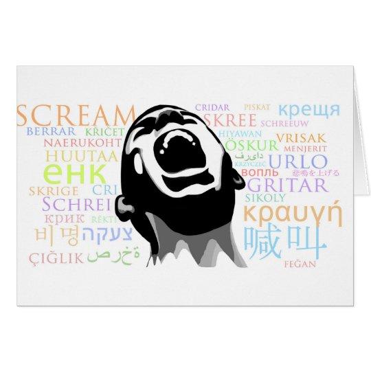 Scream in all Languages Card