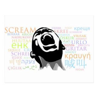 Scream in all Languages Postcard