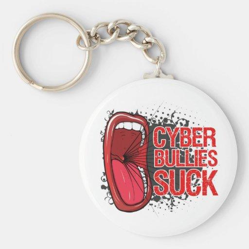 Scream It Cyber Bullies Suck Basic Round Button Keychain