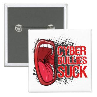 Scream It Cyber Bullies Suck Pinback Buttons