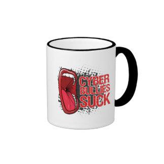 Scream It Cyber Bullies Suck Ringer Coffee Mug