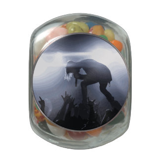Scream it out! jelly belly candy jar