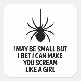 Scream Like A Girl Square Sticker