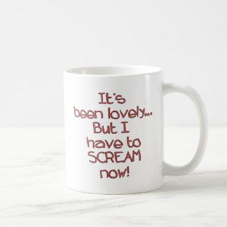 Scream Now Coffee Mug
