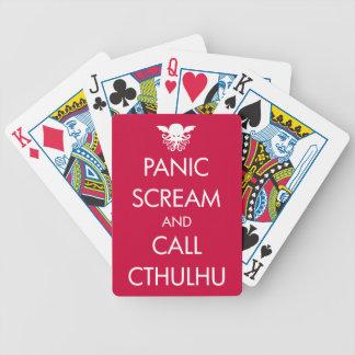 Scream Panic and Call Cthulhu Poker Deck