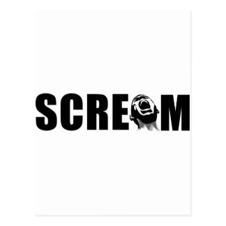 Scream Postcard