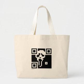 Scream QR Code Tote Bag