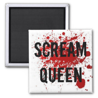 Scream Queen 2 Inch Square Magnet