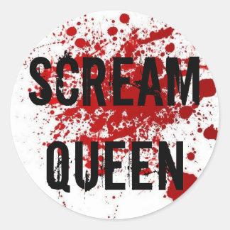 Scream Queen Classic Round Sticker