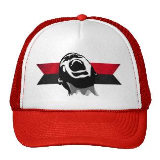 Scream red mesh hat