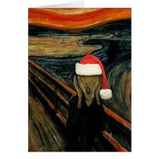 Scream Santa Note Card