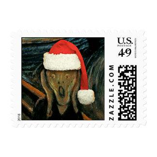 Scream Santa Stamp