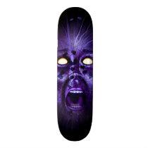 scream, face, horror, gothic, skull, head, mouth, eyes, evil, dark, Skateboard with custom graphic design