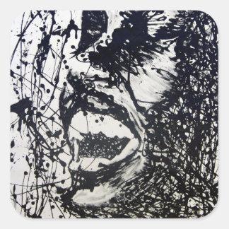 Scream Square Sticker