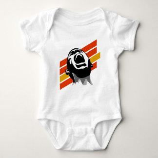 Scream stripes baby bodysuit