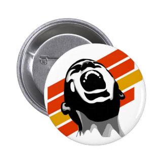Scream stripes button