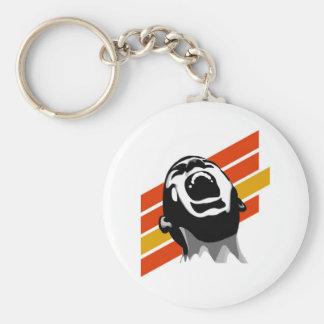 Scream stripes keychain