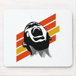 Scream stripes mouse pad