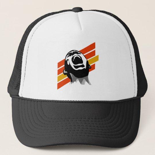 Scream stripes trucker hat