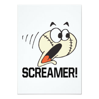 Screamer 5x7 Paper Invitation Card