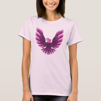 Screamin Eagle  Pink 2 Distressed T-Shirt