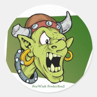Screamin' Goblin Classic Round Sticker