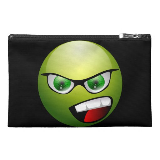 Screamin' Green Meanie Travel Accessory Bags