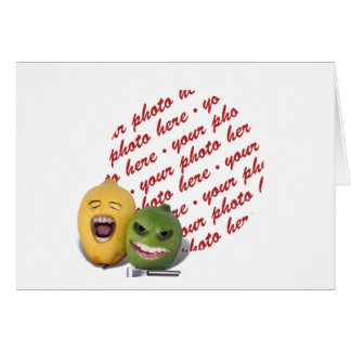 Screamin' Lemon and Lime with Lemon Zester Greeting Card