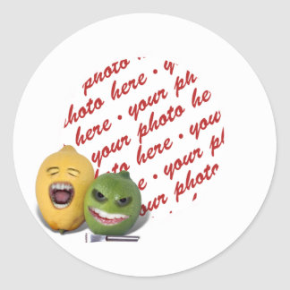 Screamin' Lemon and Lime with Lemon Zester Classic Round Sticker