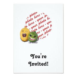 Screamin' Lemon and Lime with Lemon Zester 5x7 Paper Invitation Card