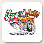 Screamin' Woody Drink Coasters