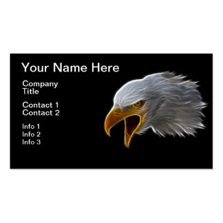 Screaming American Bald Eagle Head Double-Sided Standard Business Cards (Pack Of 100)