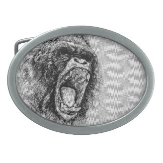 Screaming Ape Belt Buckle