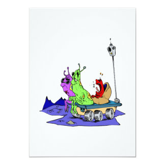 Screaming baby martian 5x7 paper invitation card