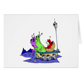 Screaming baby martian stationery note card