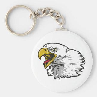 Screaming Bald Eagle Keychain