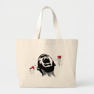 Screaming blood canvas bag