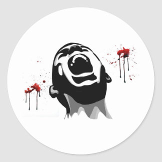 Screaming blood classic round sticker