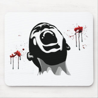 Screaming blood mouse pad