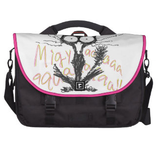Screaming cat Migyaaa Colorful-Font Laptop Bags