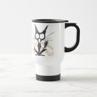 Screaming cat Migyaaa Colorful-Font Coffee Mugs